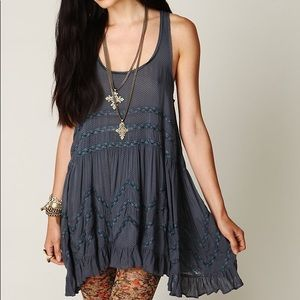 Free People Voile and Lace Trapeze Slip Size XS